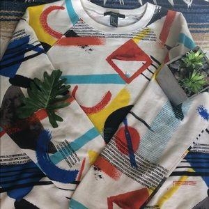 Retro geometric shapes sweater